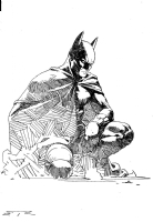 Esad Ribic Batman commission Comic Art